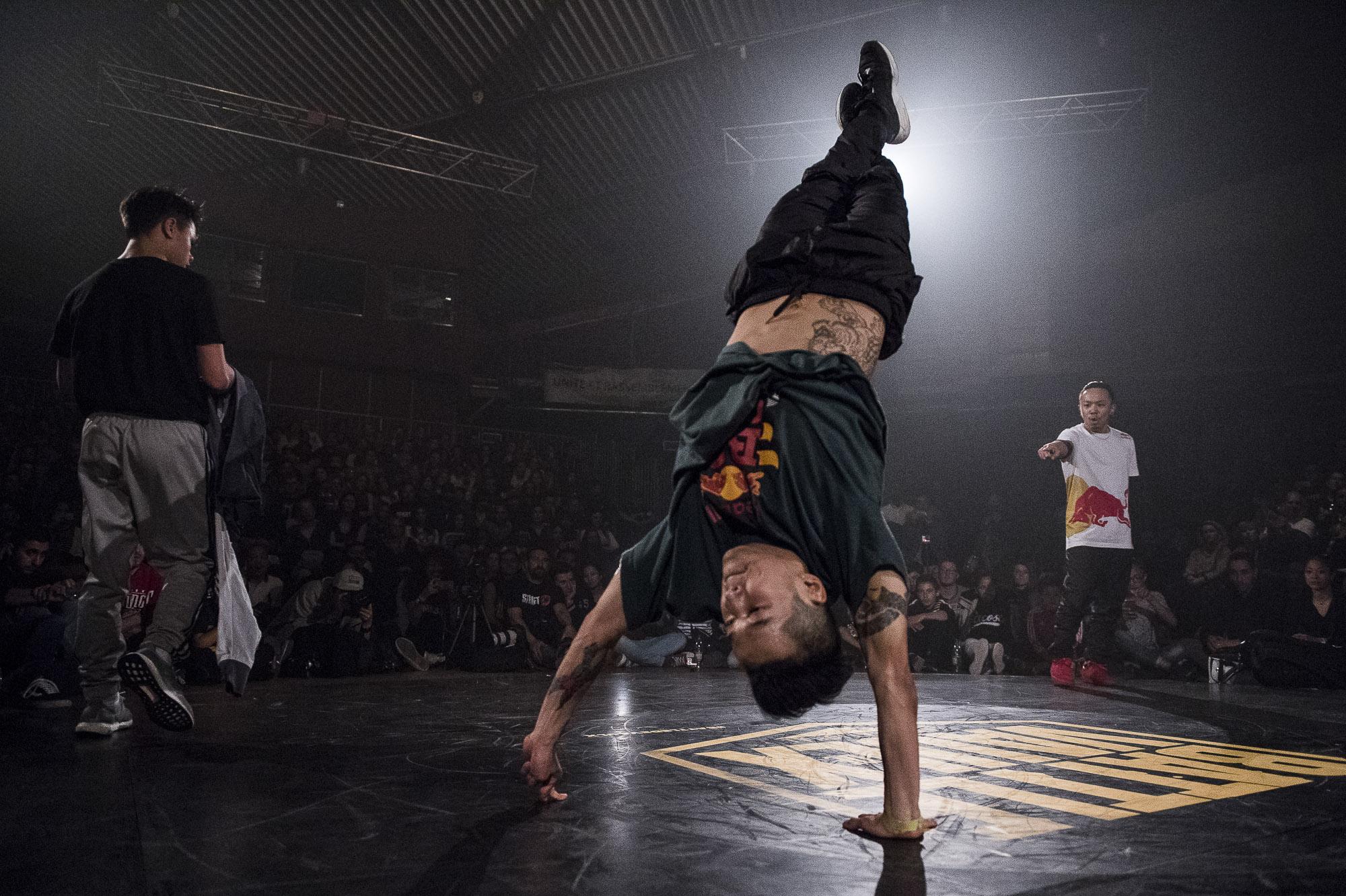 Bboy Hong10 during the Second Round of Battle De Vaulx Against Hustle Kidz 2