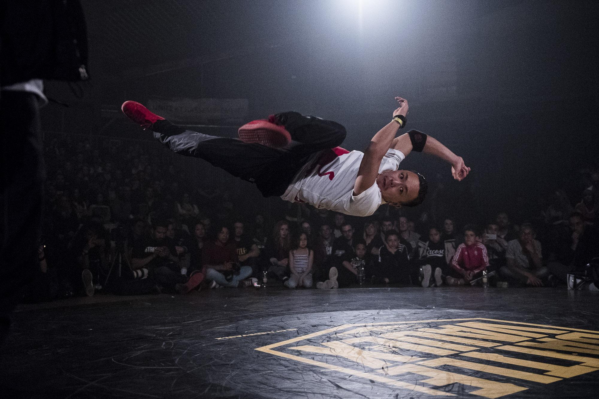 Bboy Taisuke during the Second Round of Battle De Vaulx Against Hustle Kidz 2