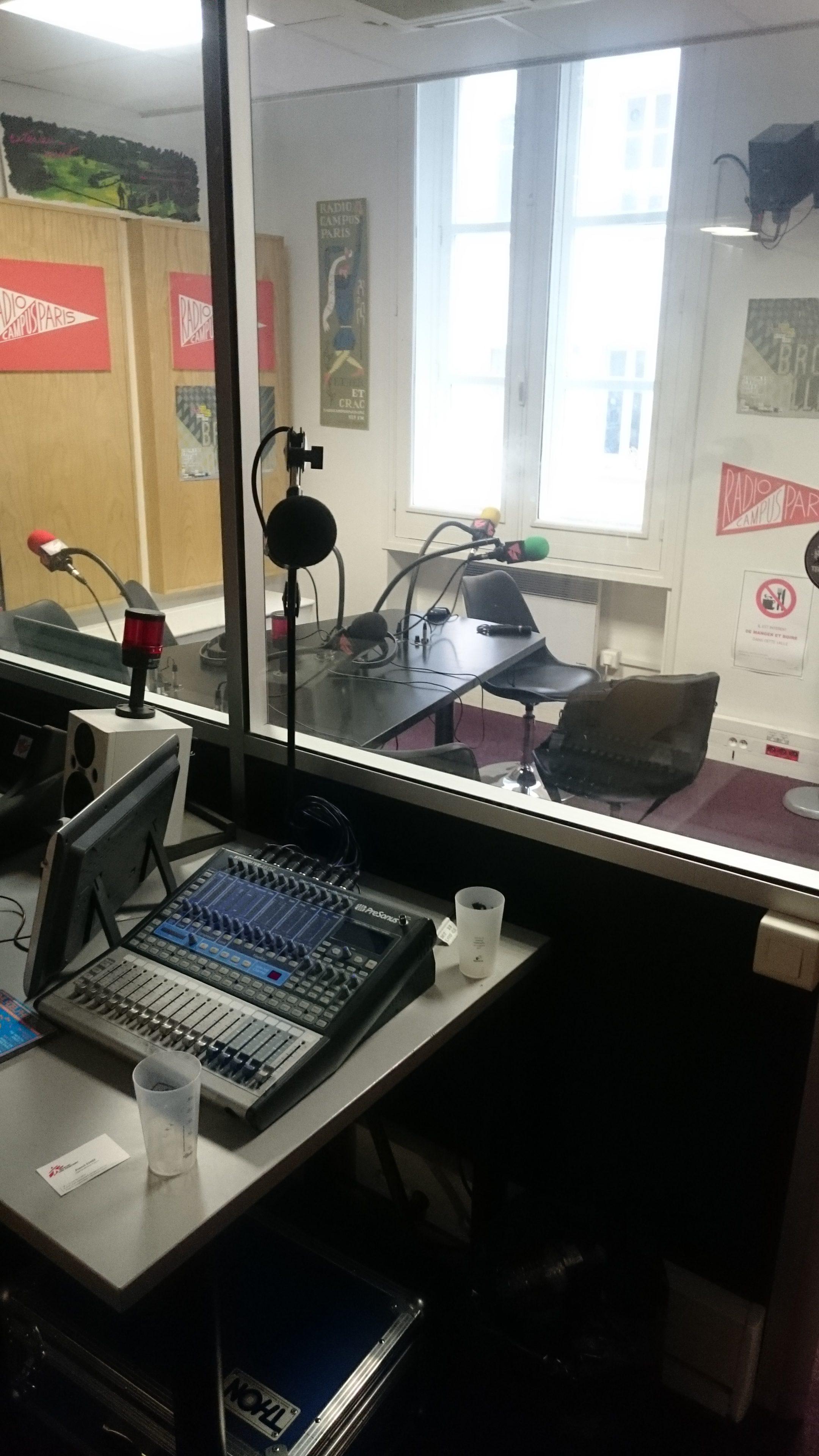 Studio Radio Campus Paris