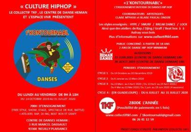 Collectif TKF : Vous partage » 1'Kontournabl' »un programme deperfectionnement en danses et Culture Hip Hop.