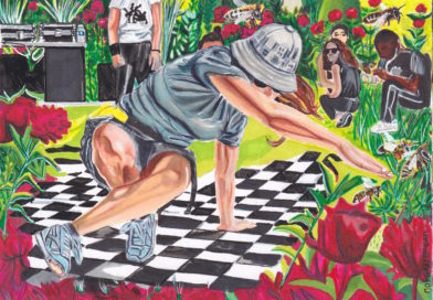 Séries de dessins des Paris Park Jams par Morgan le Cam exposés au Sneakers Summit Paris